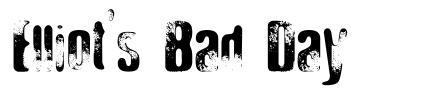 Elliot's Bad Day font