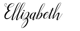 Ellizabeth font