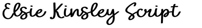 Elsie Kinsley Script fonte