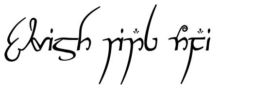 Elvish Ring NFI font