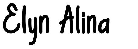 Elyn Alina písmo