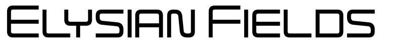 Elysian Fields font
