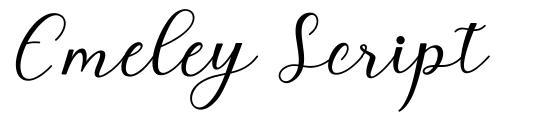 Emeley Script