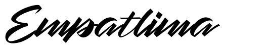 Empatlima font