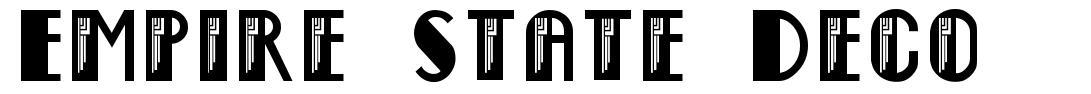Empire State Deco font