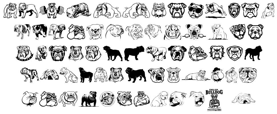 English Bulldog font