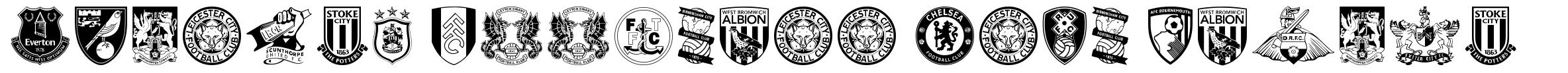 English Football Club Badges font