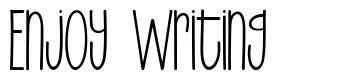 Enjoy Writing fonte