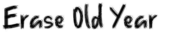 Erase Old Year font
