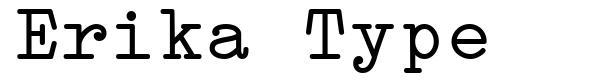 Erika Type font