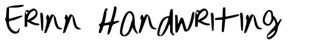 Erinn Handwriting