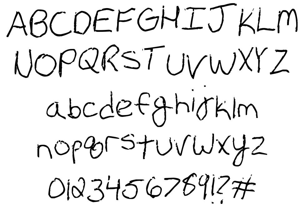 Erin's Handwriting font