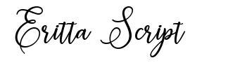Eritta Script font