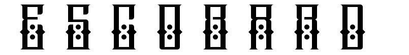 Escobard font