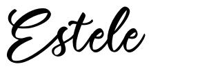 Estele 字形