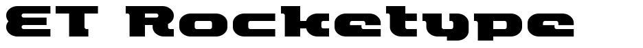 ET Rocketype font