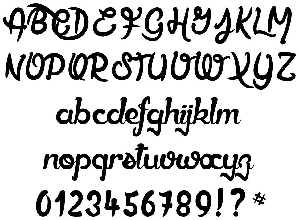 Ether Cute Poison font
