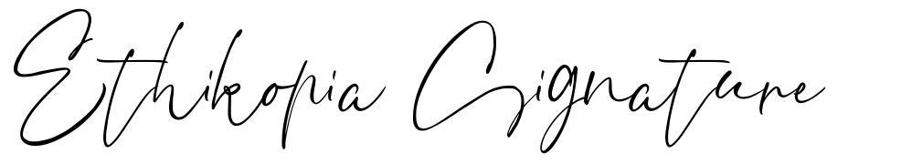 Ethikopia Signature