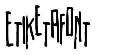 Etiketafont font