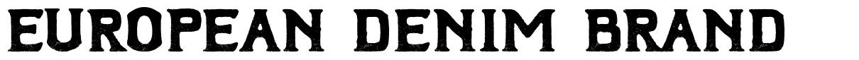 European Denim Brand font