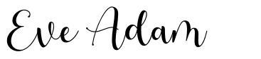 Eve Adam font