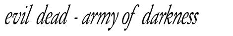 Evil Dead - Army of Darkness font