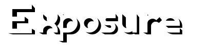 Exposure font