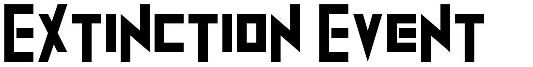Extinction Event font