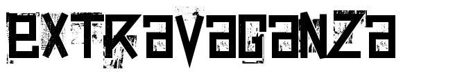 Extravaganza font