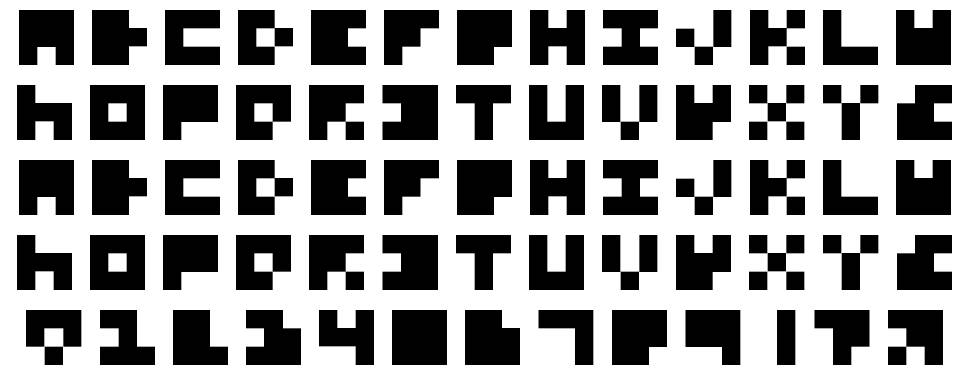 Extremely Small Fonts font