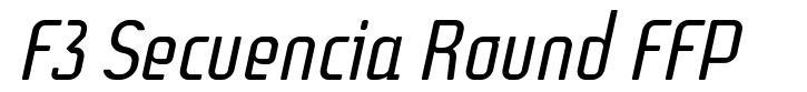 F3 Secuencia Round FFP font