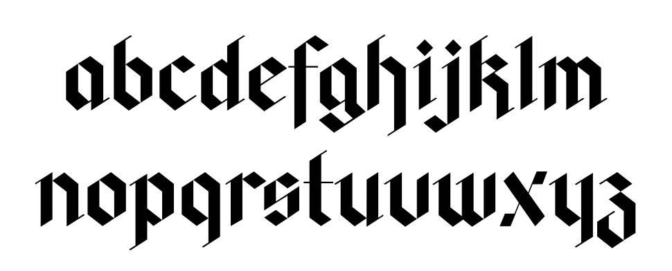 Fag Hag Black font