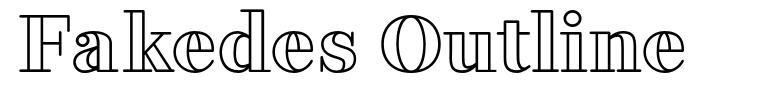 Fakedes Outline font