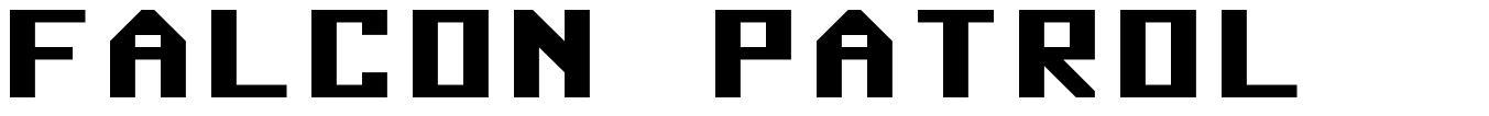 Falcon Patrol font