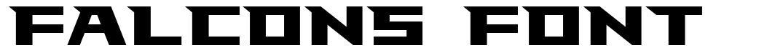 Falcons Font font