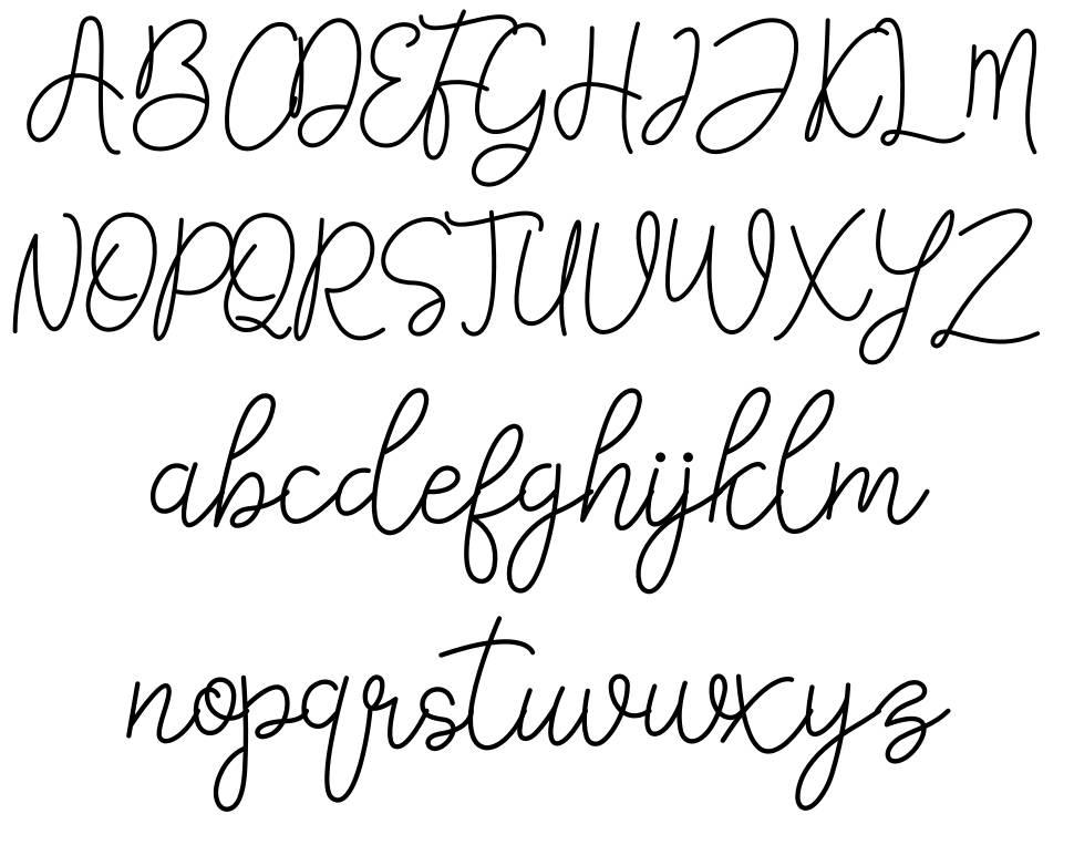 Falicia шрифт