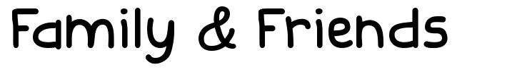 Family & Friends font