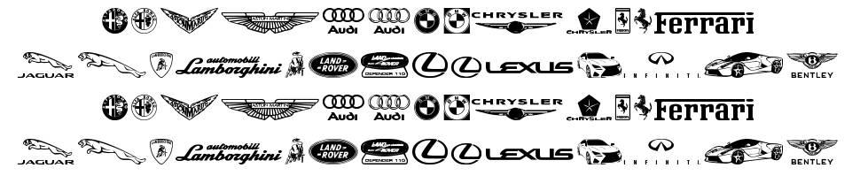 Famous Car 1 font