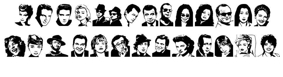 Famous Folks font