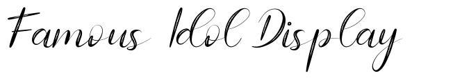 Famous Idol Display font