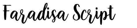Faradisa Script font