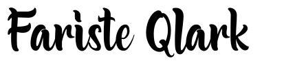 Fariste Qlark font