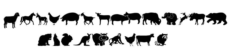 Farm & Wild Animals 字形