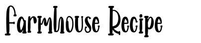 Farmhouse Recipe font