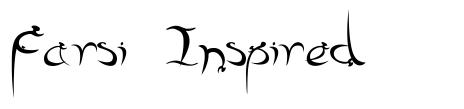 Farsi Inspired font