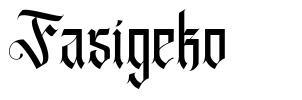 Fasigeko шрифт