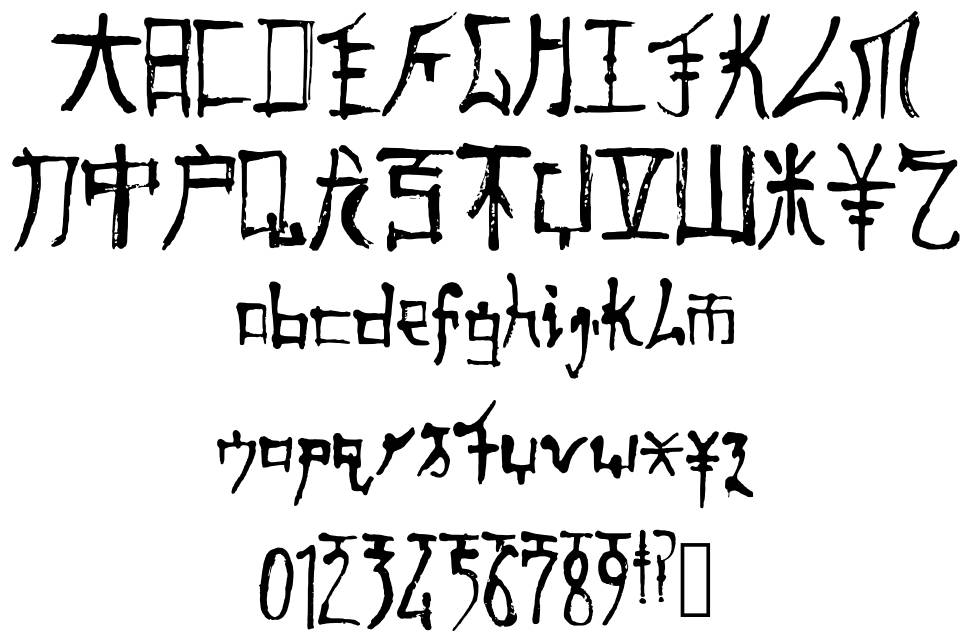 Fast Monk font