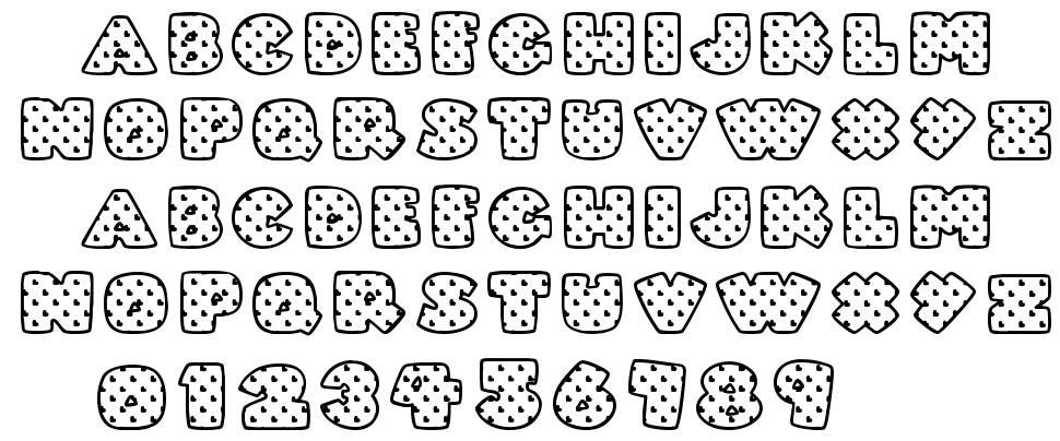 Fatty Heart Filled font