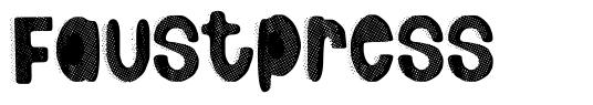 Faustpress шрифт