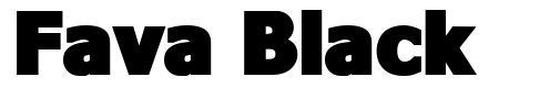 Fava Black font